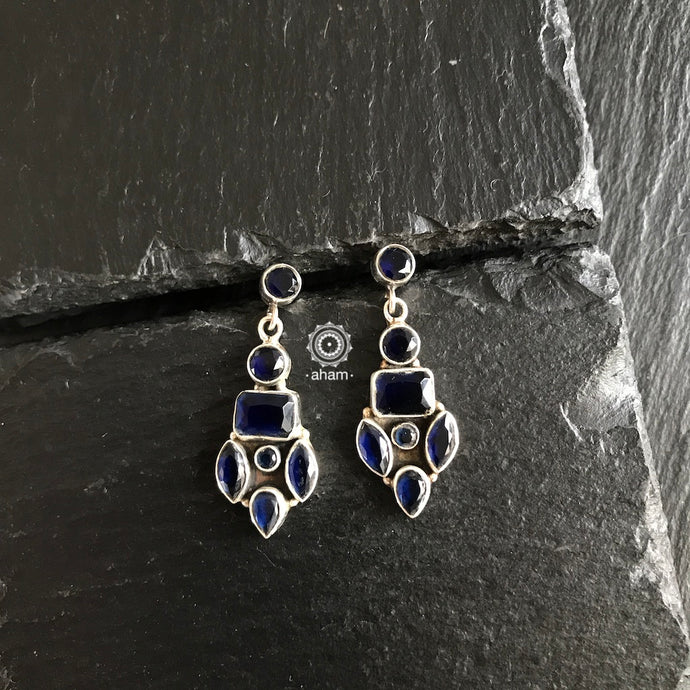 Deep Blue Stone Earring