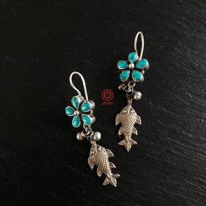 Ananya Silver Fish earrings