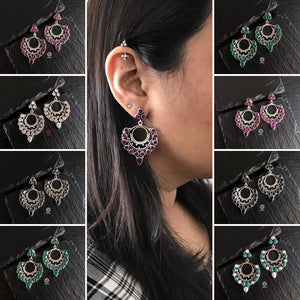Summer Love Black Chandbali Earrings