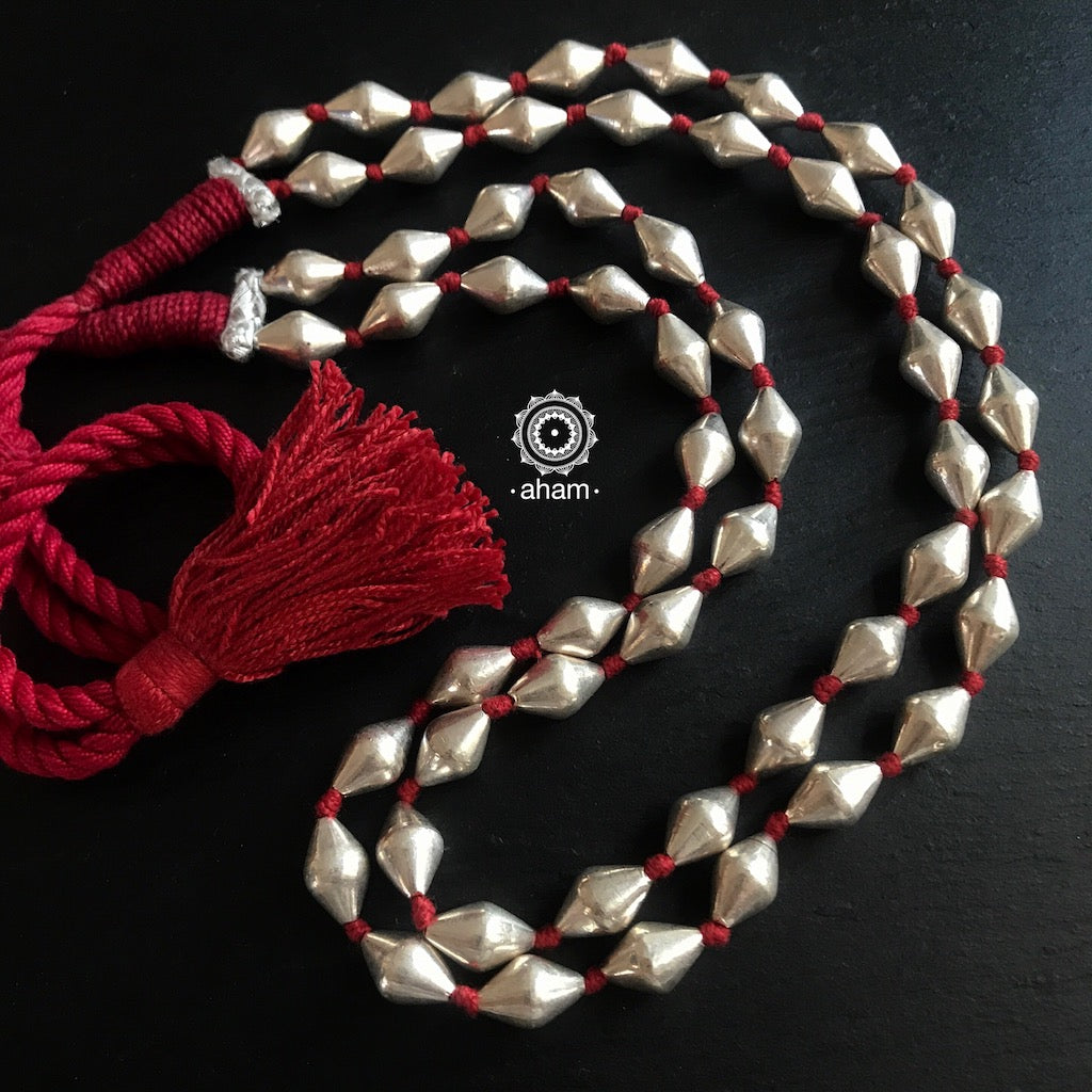 2 Strand Red Thread Dholki Neckpiece