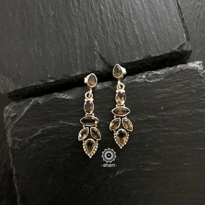 Silver Earrings with Semi precious stones