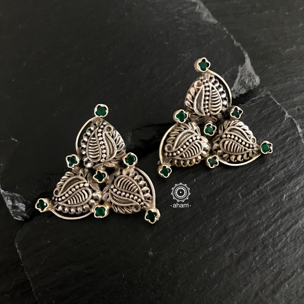 Summer Love Green Leaf Studs