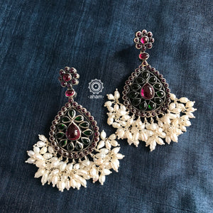 Festive Earrings with Pearls