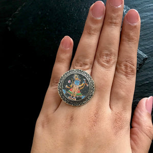 Hand Painted Shrinathji Ring