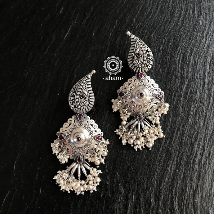 Paisley Silver Earrings
