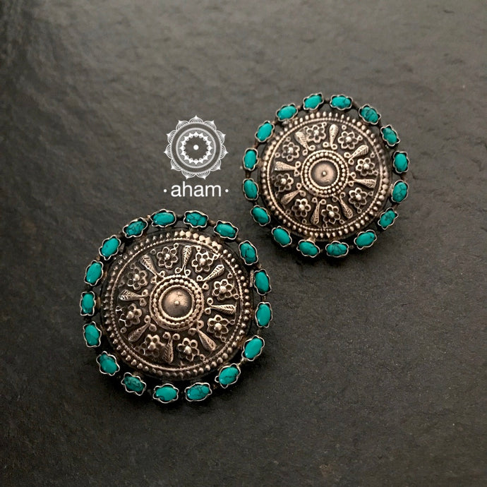 Statement Turquoise Studs