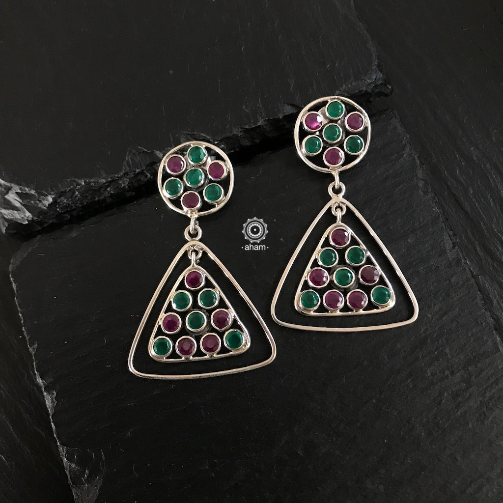 Summer Love Dangler Maroon & Green