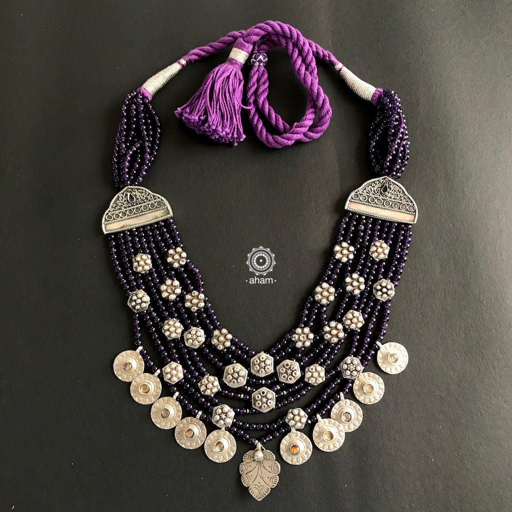 Silver with beads Neckpiece