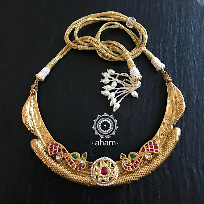Vintage Hasli Gold Polish with Kundan work