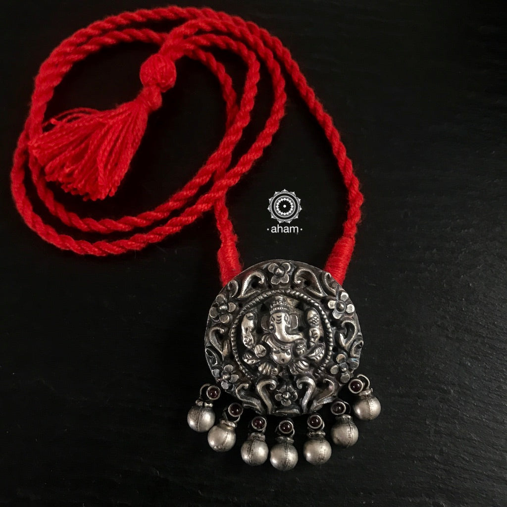 Ganesha Pendant with red thread