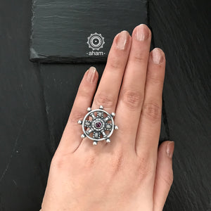 Silver Dial Ring