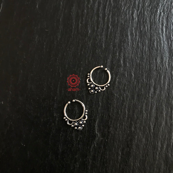Silver Septum Clip on Nose Ring
