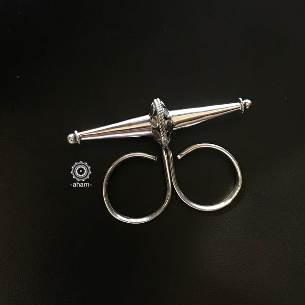 Silver Adjustable Two Finger Ring