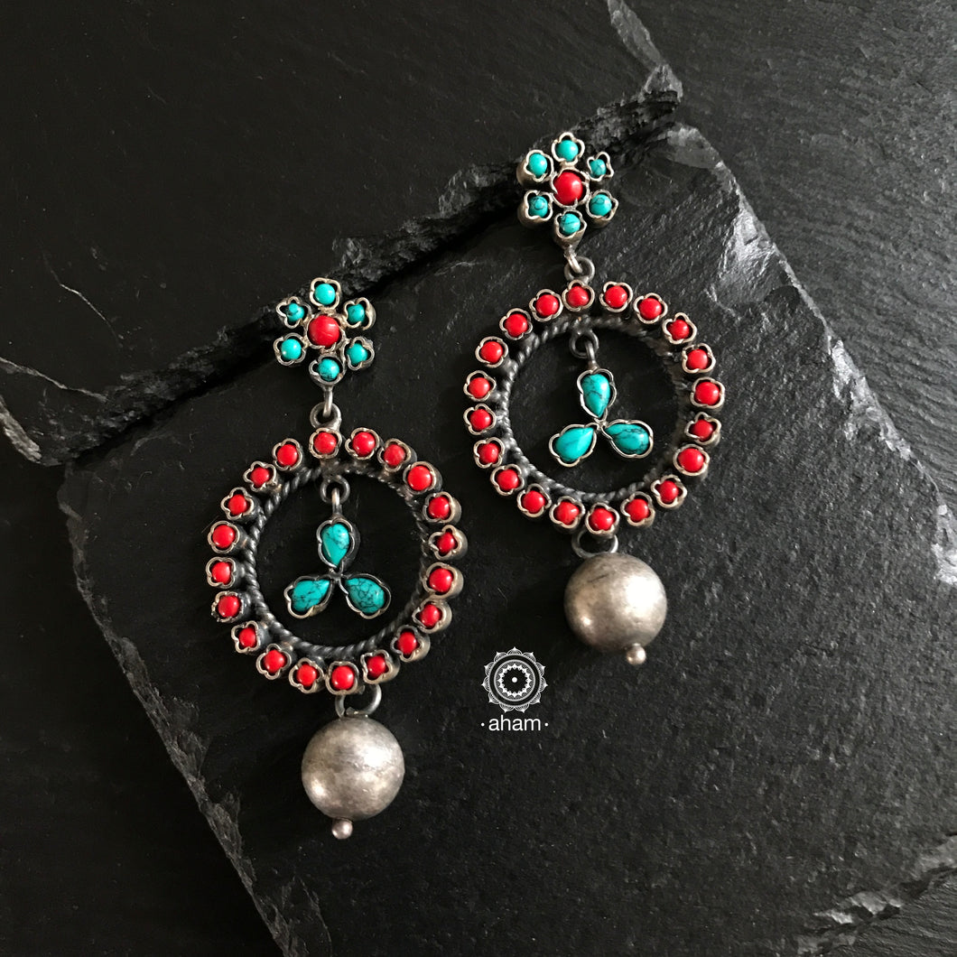 Turquoise and Coral Drops