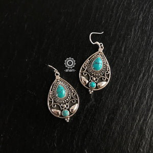 Turquoise Leaf Earring