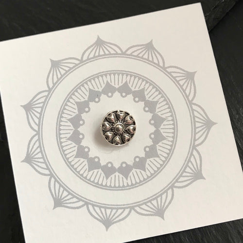Silver Flower Wire Nosepin