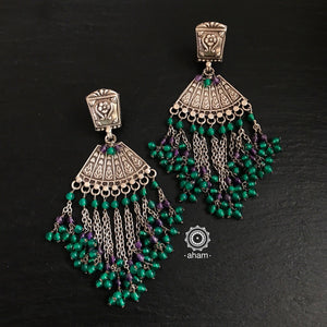 Ruhi Green Earrings