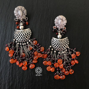 Ruhi Earrings Orange Weave
