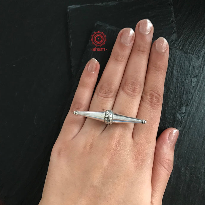 Silver Two Finger Ring