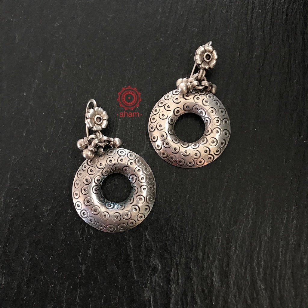Ananya Silver Circular Earrings