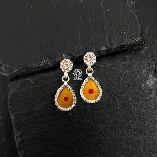Yellow Mini Rang Mahal Earring