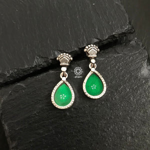 Green Mini Rang Mahal Earring