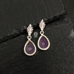 Purple Mini Rang Mahal Earring