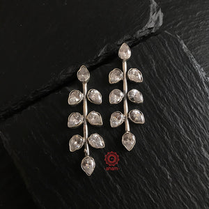 Zircon Leaf Earring