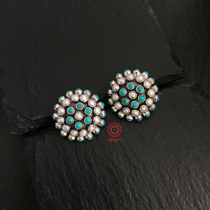 Turquoise Pearl Studs