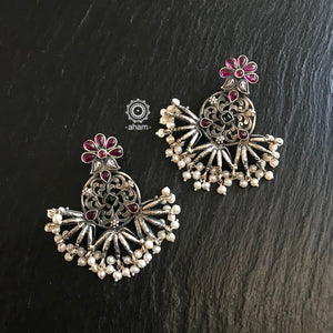 Nrityam Kolam Silver earrings