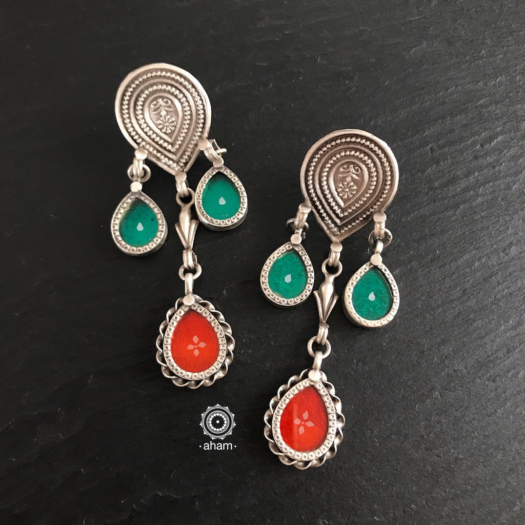 Rang Mahal Green & Orange Drops