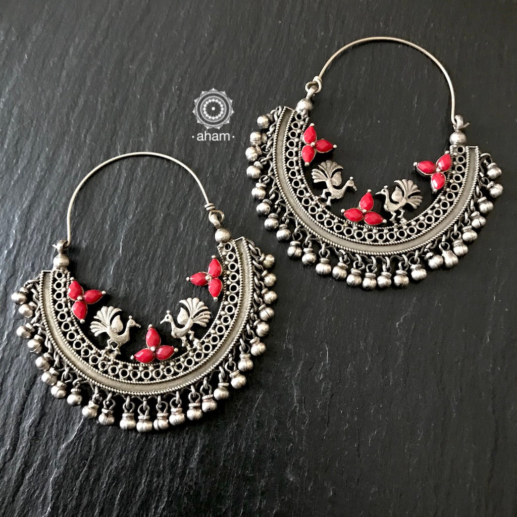 These Chandbali Hoops are handcrafted with love. Versatile and perfect to highlight your party, outdoor or casual outfits. They also make a perfect gift for that someone special.