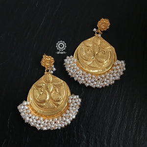 Chandrika Peacock Gold Polish Earring