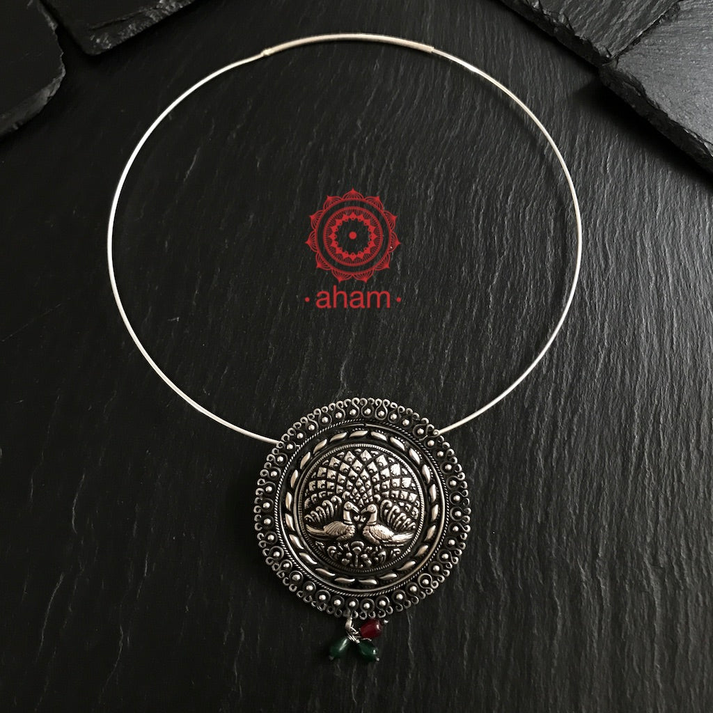 Peacock Pendant with Wire Hasli