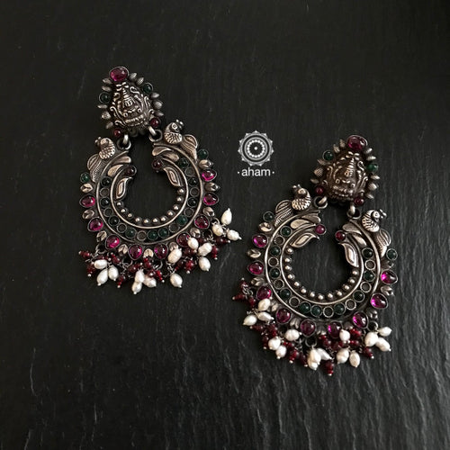 Nrityam Chandbali Silver Earrings