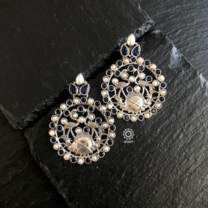 Pearl and Blue Stone Earring