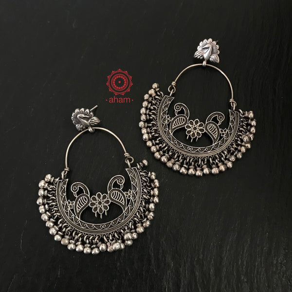 Mewad Peacock Chandbali Earrings