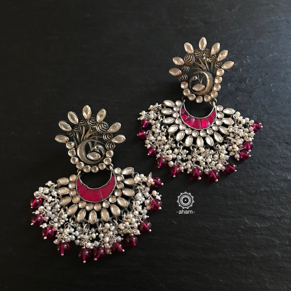 Dancing Peacock with kundan and pearls