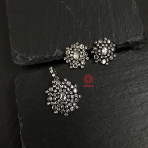 Zircon Pendant and earring set