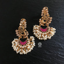 Golden Peacock with Kundan and Pearls