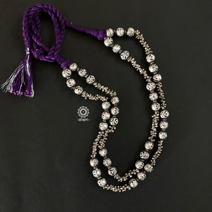 Two Line Beaded Neckpiece