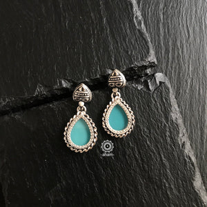Matt Blue Mini Rang Mahal Earring