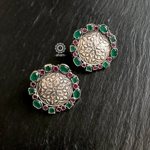 silver studs, silver earrings india