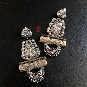 One of a Kind Peacock Earrings
