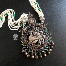 Peacock with pearls Neckpiece