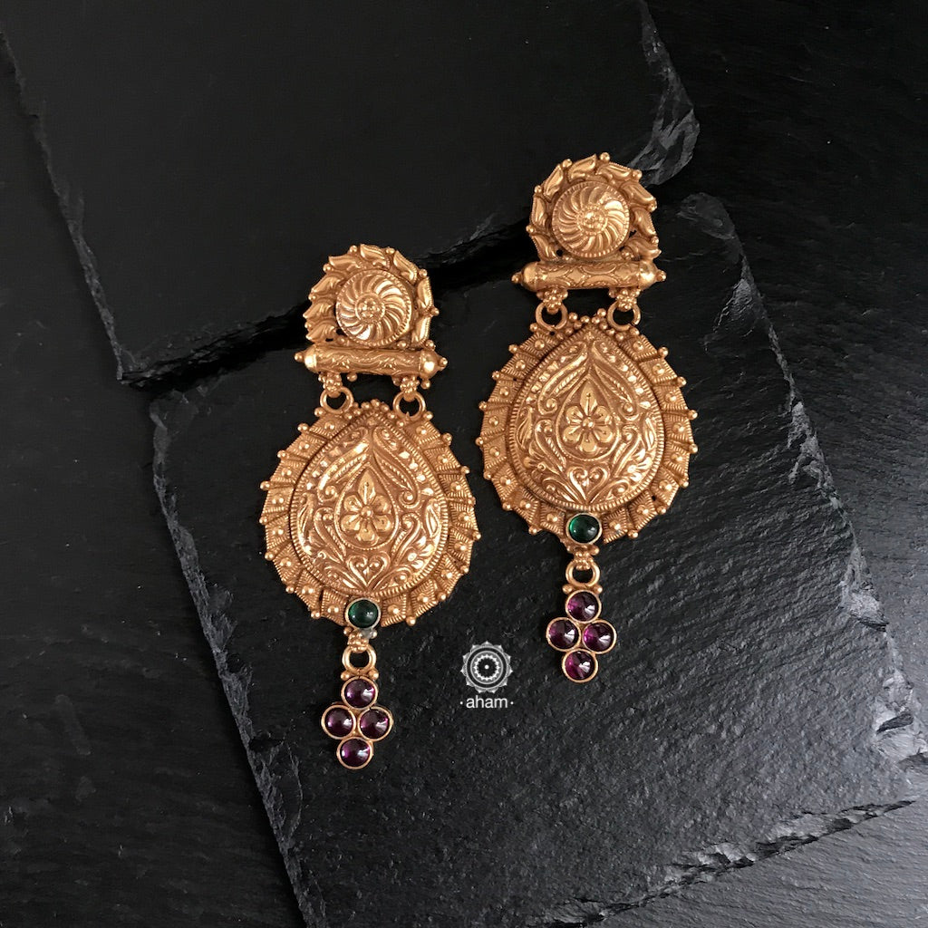 Nrityam Gold Polish Earrings