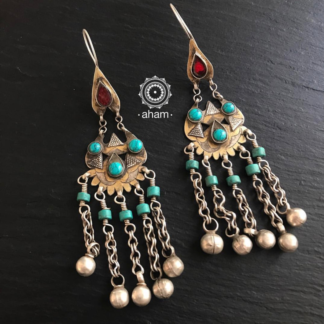 Turkmen with Turquoise and Red Stone