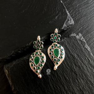 Summer Love Green Mango Silver Earring