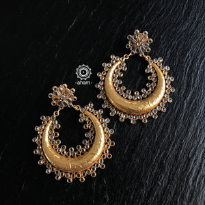 Zircon Gold Polish Chandbali