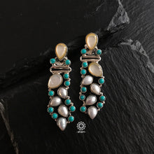 Summer Love Pearl & Turquoise Grapevine Silver Earring